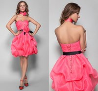 Wholesale Sweetheart Organza Satin Cocktail Dress - A-line Princess Sweetheart Short Mini Organza And Satin Cocktail Dresses Homecoming Dresses Prom Party Cocktail Gowns for graduation party