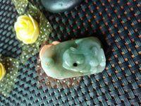 """Wholesale Chinese Monkey Pendant Zodiac - Natural Jade Carving Chinese Zodiac """"Chinese Zodiac Monkey"""" Monkey Amulet Totem Mascot Pendant"""