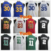Wholesale North Blue - Stitched North Carolina #23 College Jersey Youth Basketball 2018 Jerseys 11 Kyrie Irving Kid 35 Kevin Durant Youth Embroidery Top Quality