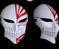 Wholesale White Ichigo - Masquerade cosplay Kurosaki Ichigo blur Death Mask full face mask horror mask masquerade Halloween mask mask wholesale lowest whole network