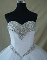 Wholesale shining wedding dresses resale online - Real Photo Bridal Wedding Dresses Shining Robe De Mariage Sexy