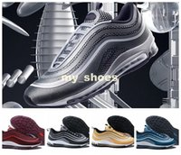 it Maxes 97 17 Ultra Metallic Silver Triple Nero NOBLE RED Port Wine Running Shoes Mens Maxes 97 Athletic Sport Trainers con scatola