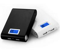 hochleistungs-power-bank-ladegeräte großhandel-Powerbank 12000mAh hohe Kapazität mit Dual-USB-LCD-Anzeige tragbare Backup-Exteranl Handy-Ladegerät Power Bank mit Kleinkasten