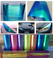 Wholesale Blue Chameleon Cars - 0.3x10m(1x33ft) new arrival chameleon headlight tint Dark Blue for car head trail decoration free shipping