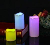 bougies électroniques télécommandées achat en gros de-Le moins cher !!! Bougies sans flammes pour bougies électroniques à DEL en cire véritable avec télécommande à 18 touches