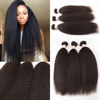 Wholesale bundles remi hair for sale - Group buy Bzilian Peruvian Indian Malaysia Hair Bundles Coarse Yaki Remi Human Hair Weave And Closure Kinky Straight Virgin Hair Extensions LaurieJ Ha