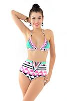 Wholesale Cheap High Fashion Bikinis - Fashion Women Swimwear Spandex Material Cheap Two Piece Swimsuits Nine Style Choose Beachwear for Women New Arrival