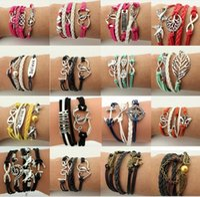 Wholesale Tungsten Beads Cheap - Drop shipping!Wholesale friendship bracelets,multilayer woven charm bracelet,hand-made student bracelet,cheap leather bracelet jewelry.XQ