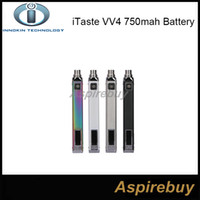 Wholesale Innokin Itaste Batteries - 100% Original Innokin iTaste VV4 VV4-M Battery 1000mah Variable Wattage VW Mode 6-15W VV 4.0 E Cigarettes Battery 4 Colos Available
