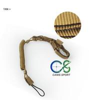 шлейф с дистанционным управлением оптовых-Canis Latrans Pistol Lanyard Belt Ремень для петлевого оружия / тактический пружинный ремень для винтовки для охоты CL13-0049