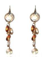 Wholesale Earings Color Diamond - champagne color diamond grapes lady's earings (7.7*1.7cm) (myyhmz)