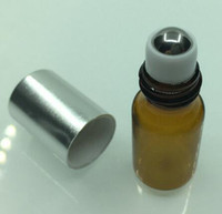 Wholesale Small Perfume Roll - 00pc 3ml Small Glass Perfume Roll-on Bottles,Refillable Roller Essential Oil Packing Bottle,Travel Parfum Vials