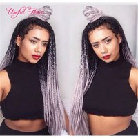 Wholesale Red Synthetic Hair Extensions - 5-8pcs one head JUMBO BRAIDS MARLEY braids Premium 24inch SYNTHETIC braiding hair ombre color crochet hair extensions crochet braids hair