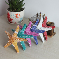 Wholesale Sea Stars Wholesale - Resin Overlord Sea Star Wishing Bottle Starfish Stickers Adornment Material Toy Birthday Ornaments Multicolor Optional free shipping TY1347