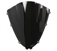 Wholesale Double Bubble Windshield - Motorcycle Double Bubble Windshield WindScreen For 2006-2014 Kawasaki Ninja ZX14R ZX 14R 06 07 08 09 12 13 2011 2012 2013 Black
