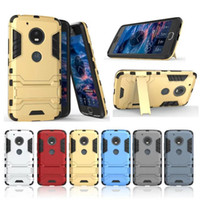 Iron Man Rugged Armor Heavy Duty Hybrid TPU + Custodia PC per Moto G3 G4 G5 G6 Plus Z2 X X4 Play Z Style E3