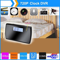 V16 Spy Clock Camera Mirror Clock Spy DVR Câmara de vídeo escondida V16 Relógio DVR Full HD 720P H.264 Detecção de movimento 10PCS / LOT