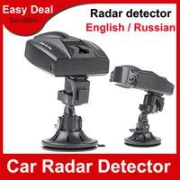 fahrzeugdetektoren großhandel-Superauto-Radar-Detektor-russischer englischer Sprachgeschwindigkeitssteuerungs-Detektor für Auto-Fahrzeug Freies Verschiffen
