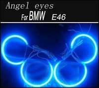 2X 146mm 2X 131.5mm Coche CCFL Angel eyes Kits LED para E46 NON proyector Faros Halo Ring Azul Rojo Color blanco Elige
