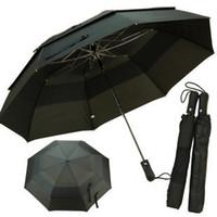 Wholesale Double Golf Umbrella - Wholesale-Umbrellas Folding automatic double layer golf large super strong sun umbrella Free shipping