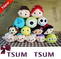 Moda quente Pelúcia TSUM TSUMS Mickey Minnie Winnie Kawaii Dolls Anime celular Screen Cleaner Chaveiro Saco Hanger para o telefone móvel Ipad