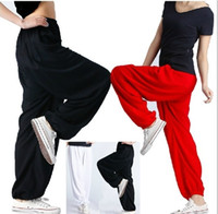 Wholesale Black Baggy Trousers Women - Womens harem pants genie yoga dance aladdin hippie baggy wide comfy trousers Free Shipping
