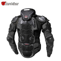 equipamento de corpo protetor venda por atacado-HEROBIKER Motorcycle Armadura Jacket Motocross Corrida de equitação Offroad Protective engrenagem Body Guards Outdoor Sport Adicionar Neck Prodector