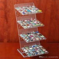 Wholesale Traditional Wedding Jewelry Sets Designs - P00407 wholesale 2015 newest design nossa Acrylic Snap Stands Display Detachable Set Snap Buttons snaps Jewelry for snap button display