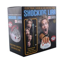 Wholesale Electric Shock Lie Detector - Polygraph Shocking Liar Game Miniature Electric Shock Lie Detector Funny Adjustable Reloaded Creative Death Ordeal Polygraphs Party Game