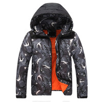 Wholesale Cheap Male Trench Coats - Plus Size 4XL-8XL Winter Jacket Men Camouflage Wear Male Coat Cheap Down Jacket Parkas Hooded Trench Snow Cold Jacket 1626