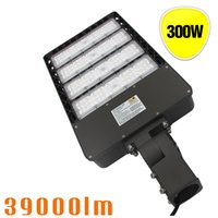 Wholesale fits commercial - 300W LED Shoebox Outdoor Commercial Pole Light Parking Lot Fixture 39000 Lumens 5700K Cool White Slip Fitter Mount Outdoor Street Lighting
