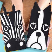 Wholesale Mobile Phone Case Dogs - For Sony Xperia C3 C4 XL39H Z3 mini Z5 Soft Rubber Lovely Animal Zebra and Dog Cartoon Mobile Phone Case Back Cover