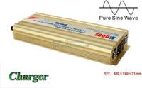 Wholesale Pure Sine Power Inverter - High Quality Sufficient 2000W Power Inverter Pure Sine Wave DC to AC Converter AC Adapter Watt Inverter Power Supply Meind Dropshipping