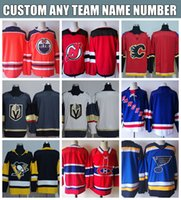 Wholesale Orange Contacts - 2018 Custom Hockey Jerseys Any name any number customized Hockey Jersey need contact seller first S-XXXL