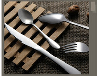 Wholesale Tops Knives China - Dinner tools western food dinnerware set top stainless steel flatware steak knife and fork and spoon cutlery set