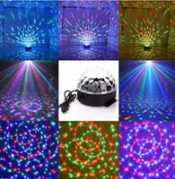 efectos de sonido de pelota al por mayor-Efecto de escenario Lámpara de luz Bombilla Club DJ Disco KTV Partido Sonido RGB Activo Cristal LED Bola Proyector envío de la gota