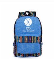 Wholesale Bts Group - Wholesale-New arrival kpop Bangtan Boys BTS group National schoolbag korea backpack