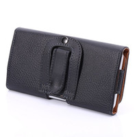 Wholesale huawei ascend honor cases - Clip Belt Wallet Leather Case Leechee Universal Holster Sleeve Pouch For Huawei Ascend P8 Sony Xperia Z5 Huawei Honor 7i 6 Plus skin luxury