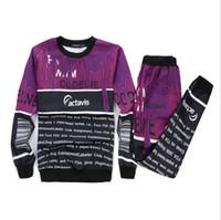 Wholesale Coffee Color Suit - New Casual women men boy gril suit Lean coffee milk 3d printed set joggers pants sweatshirt sport clothing