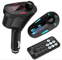 ingrosso kit di lettore mp3 usb-3 colori Car Kit MP3 Music Player Wireless FM Trasmettitore Radio Modulator Con USB SD MMC + Telecomando DHL