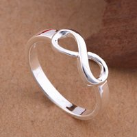 Wholesale Infinity Symbol Rings - Wholesale-High Quality 925 Sterling Silver Infinity Ring Fashion Best Sister Love Forever Infinity Symbol Rings Size 7 8 Stamp S925