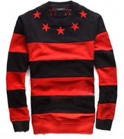 Wholesale Designer Fashion Hoodies - Men women Star Striped Fleece Sweatshirts Jumper Black Red Designer Celebrity BigBang GD Hoodies Billionaire Boys Club Hoodie
