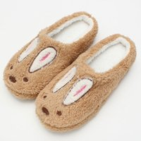 Wholesale Cute Sewing Patterns - Wholesale- Retail Cute Style Rabbit Women Men Winter Slippers Animal Pattern Home Slippers For Lovers Indoor Shoes Slipper Size 36-43