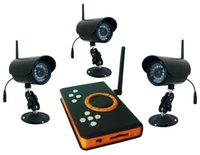 2.4GHz Waterproof IR LED Night Vision Camera + Wreless receptor sem fio DVR H.264 SD Cartão de Memória CCTV Camera DVR KIT