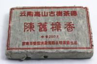ingrosso cibo di mattoni-1998 Tè all'antica Puer con profumo di Canfora, Cina Yunnan mattone puerh maturo 250g 90'S Alimento biologico Pu'er ALL'INGROSSO