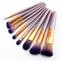 Wholesale eyeliner set resale online - Odessy Pro Makeup Brushes High Quality Foundation Powder Eyebrow Eyeliner Blending Brush Eye Face Make Up Rose Gold Set
