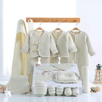 Wholesale autumn baby products online - 18pcs set New baby Clothing Set Infant Outfits Clothes Cartoon Cotton newborn baby products cotton clothes baby shoes KKA3562