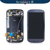 Wholesale Display S3 Red - Wholesale-For Samsung Galaxy S3 I9300 LCD Display Touch Screen with Frame Assembly + Tools Replacement, Red Color Free Shipping