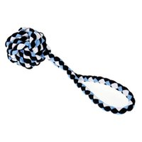 Wholesale Dog Tug Rope - New Hot Cotton Pet Toys Puppy Entertained Rope Tug Toy Rope Ball for Pet Tugging or Throwing Pet Toy for Dog Solid Dog Chew Toy