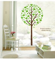 Wholesale Wall Art Heaven - 3D Large Green Tree Wall Art Mural Decor To love is receive a glimpse Heaven Wall Quote Decal Sticker Home Art Decor Wallpaper Poster